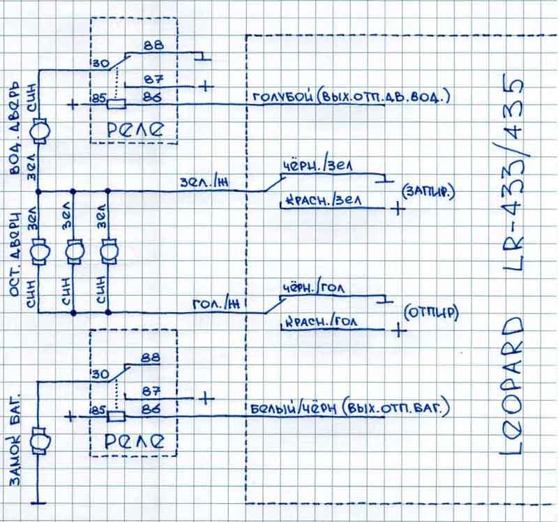 Схема подключений. схема
